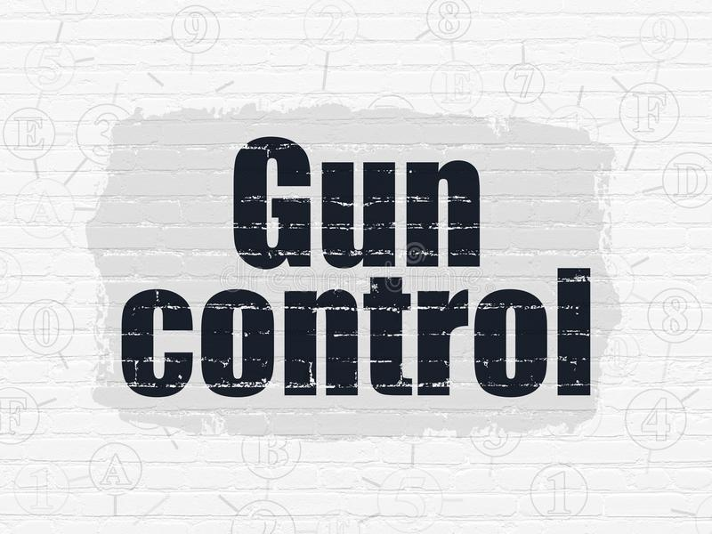 Protection concept: Gun Control on wall background royalty free illustration