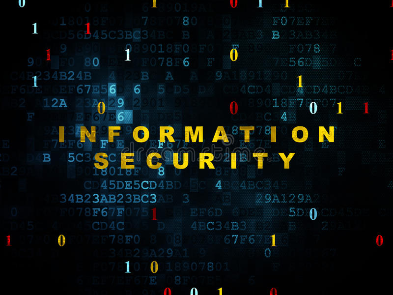 Protection concept: Information Security on royalty free stock image
