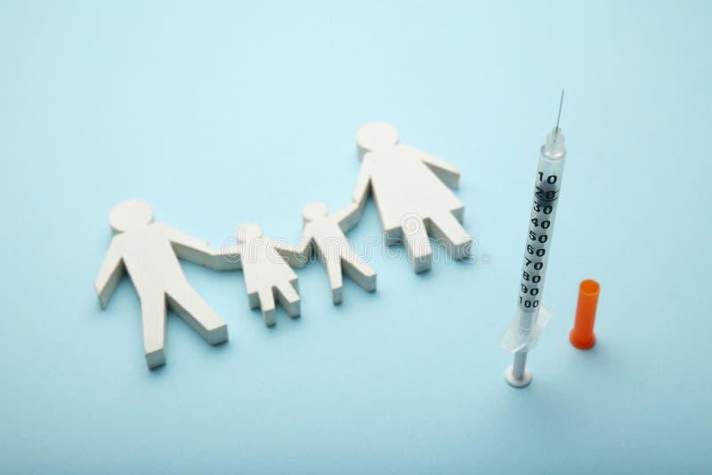 Protection contre des virus et des infections Immunisation et vaccination dans la famille image stock