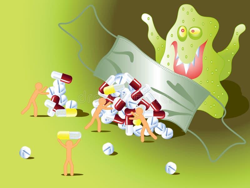 Protection contre la grippe illustration libre de droits