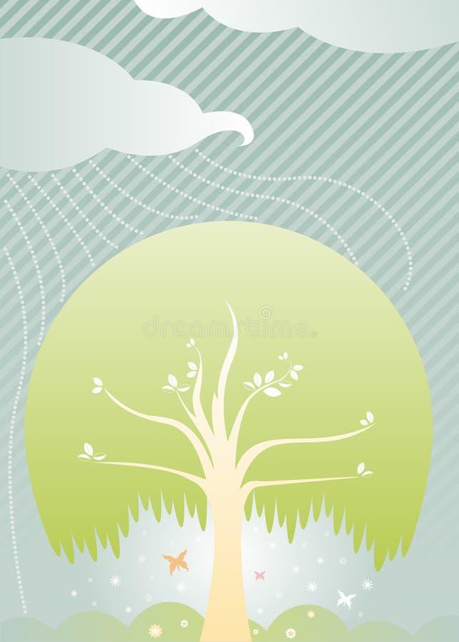 Protection contre la pluie illustration libre de droits