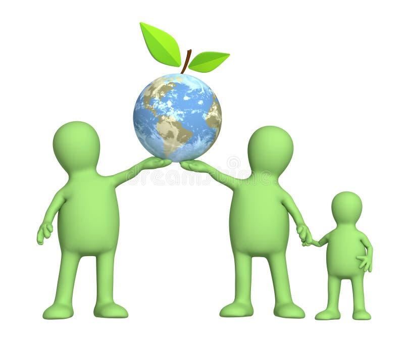 Protection d'un environnement illustration libre de droits
