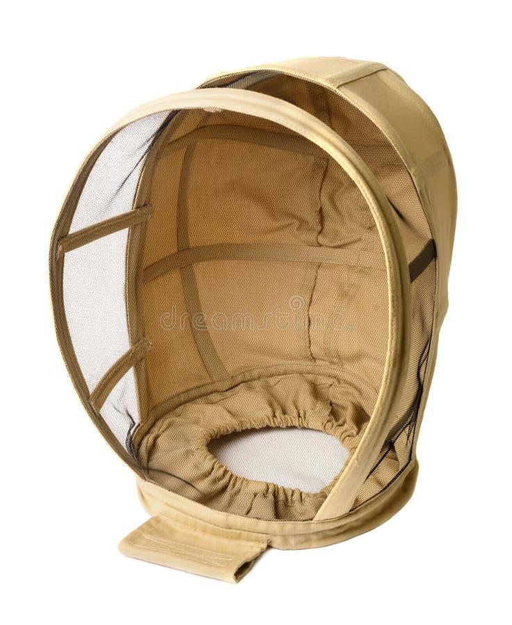 Protection d'un masque d'apiculteur contre la détresse des abeilles Vêtements pour un apiculteur Mordez les abeilles photos stock
