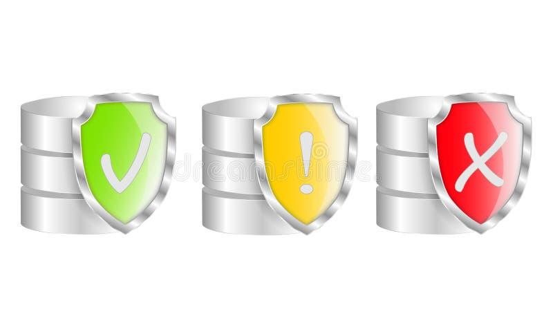 Protection de base de données illustration stock