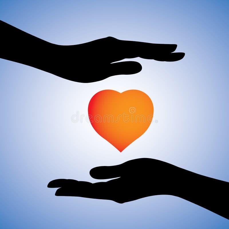 Protection de coeur contre les maladies et le dessin de maladie illustration stock