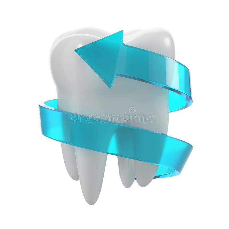 Protection de concept de dents illustration de vecteur