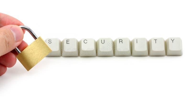 Protection de degré de sécurité d'ordinateur image stock