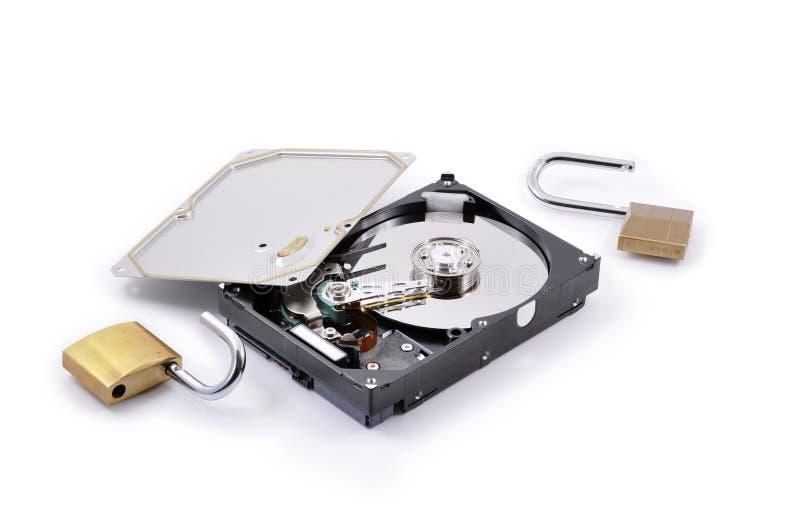 Protection de disque dur cassée photo libre de droits