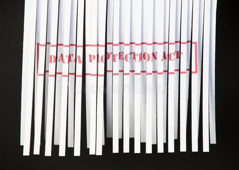 protection de document de données d'acte déchiquetée image stock