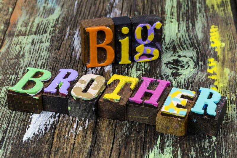 Protection de la famille Big Brother photos stock