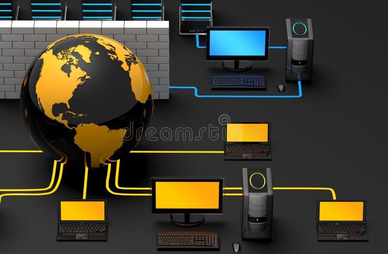 Protection de réseau illustration de vecteur