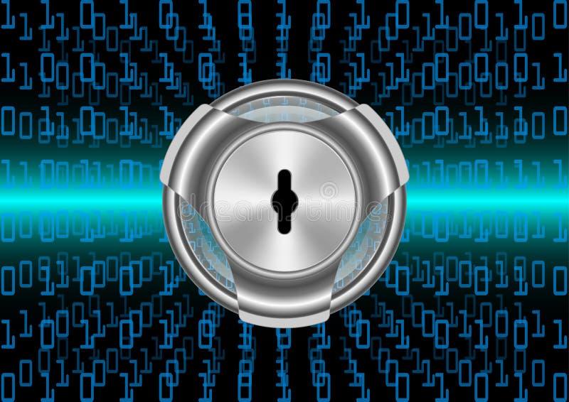 Protection de sécurité de Digital de fond et données abstraites de chiffrage illustration stock