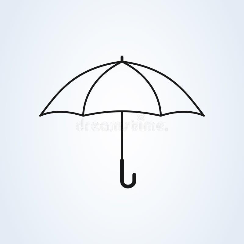 Protection de signe de parapluie Sch?ma, style plat Ic?ne d'illustration de vecteur d'isolement sur le fond blanc illustration de vecteur