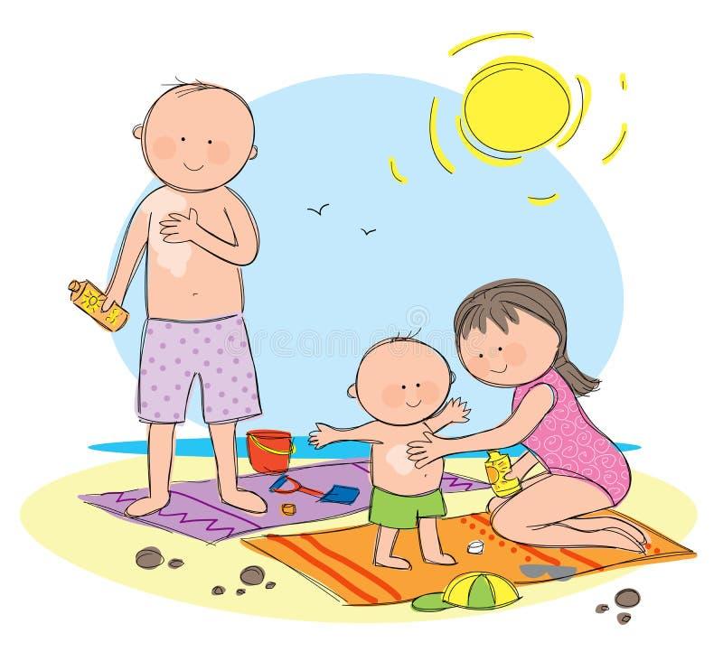 Protection de Sun illustration libre de droits