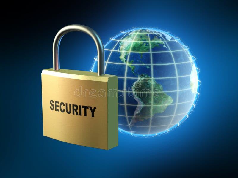 Protection des données illustration de vecteur