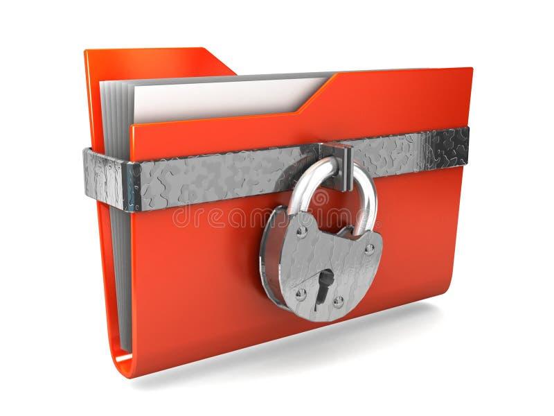Protection des données. illustration stock