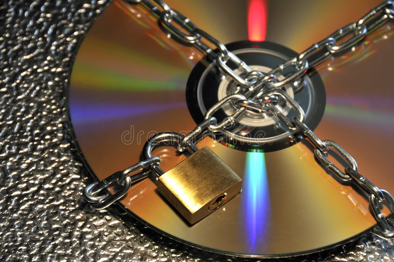 Protection des données CD photos stock