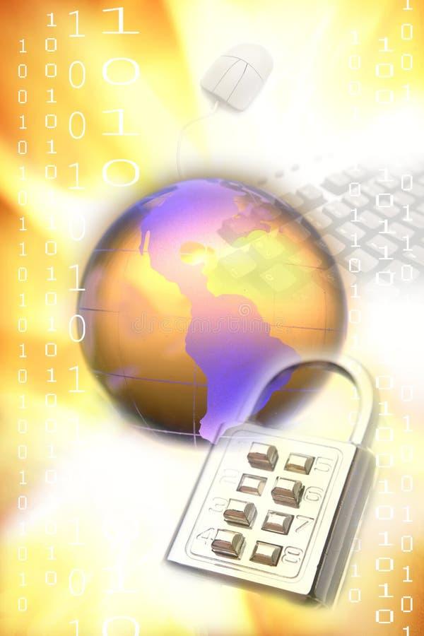 Protection des données d'ordinateur image stock