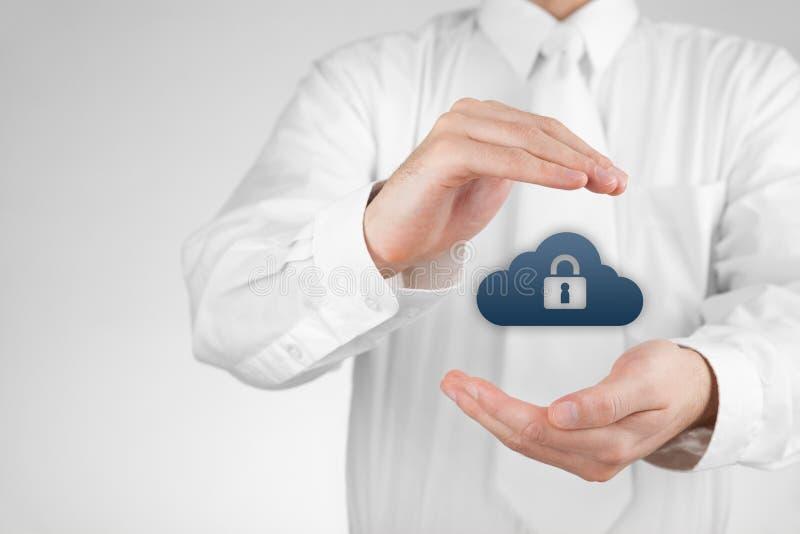 Protection des données de nuage images stock