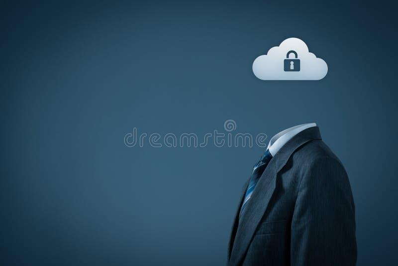 Protection des données de nuage photo libre de droits