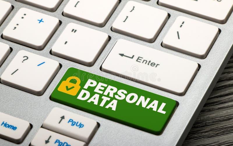 protection des données personnelle photographie stock libre de droits