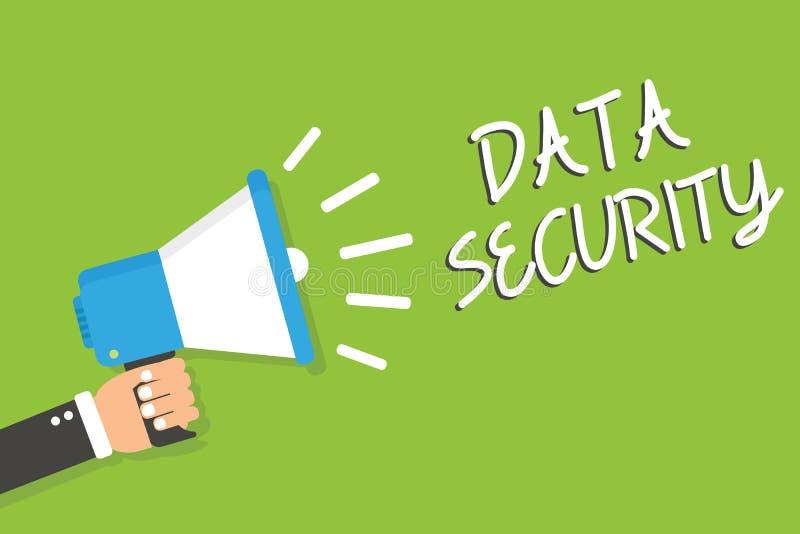 Protection des données des textes d'écriture Mot de passe de supports de chiffrage de disque de confidentialité de signification  illustration libre de droits