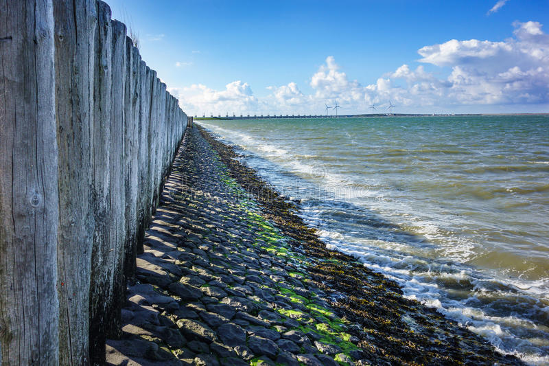 Protection du rivage image libre de droits