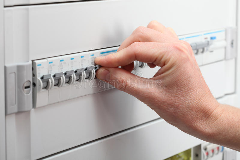 Protection of electrical installation royalty free stock photos