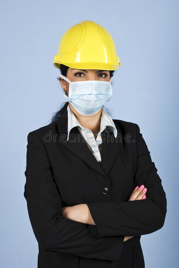Download Protection From Flu At Work Stock Image - Image: 11035347