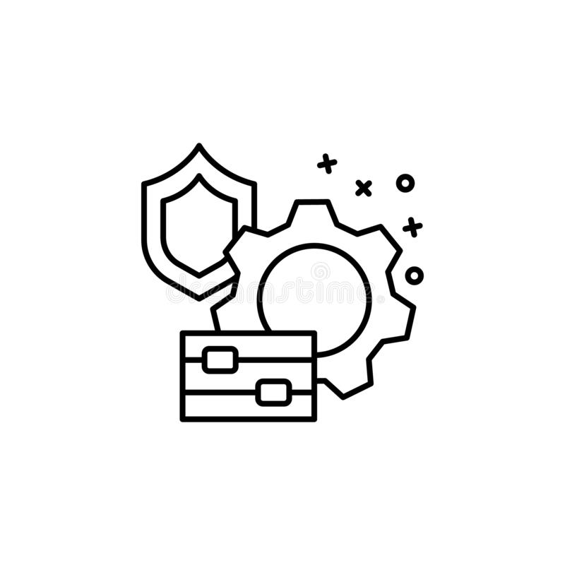 Protection gear setting icon. Element of manufacturing stock illustration