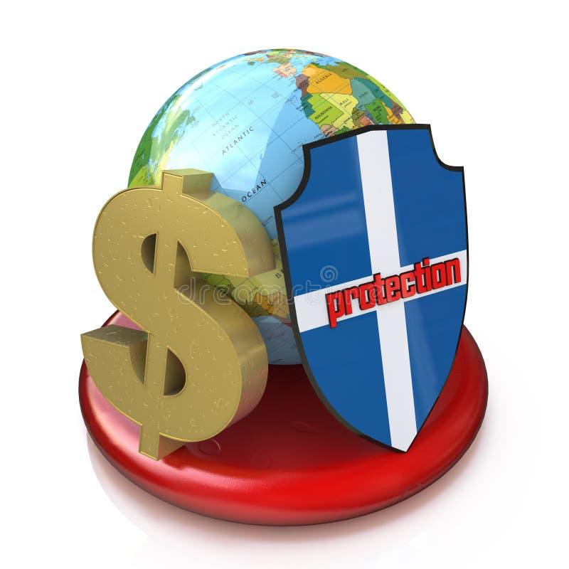 Protection globale des finances illustration stock