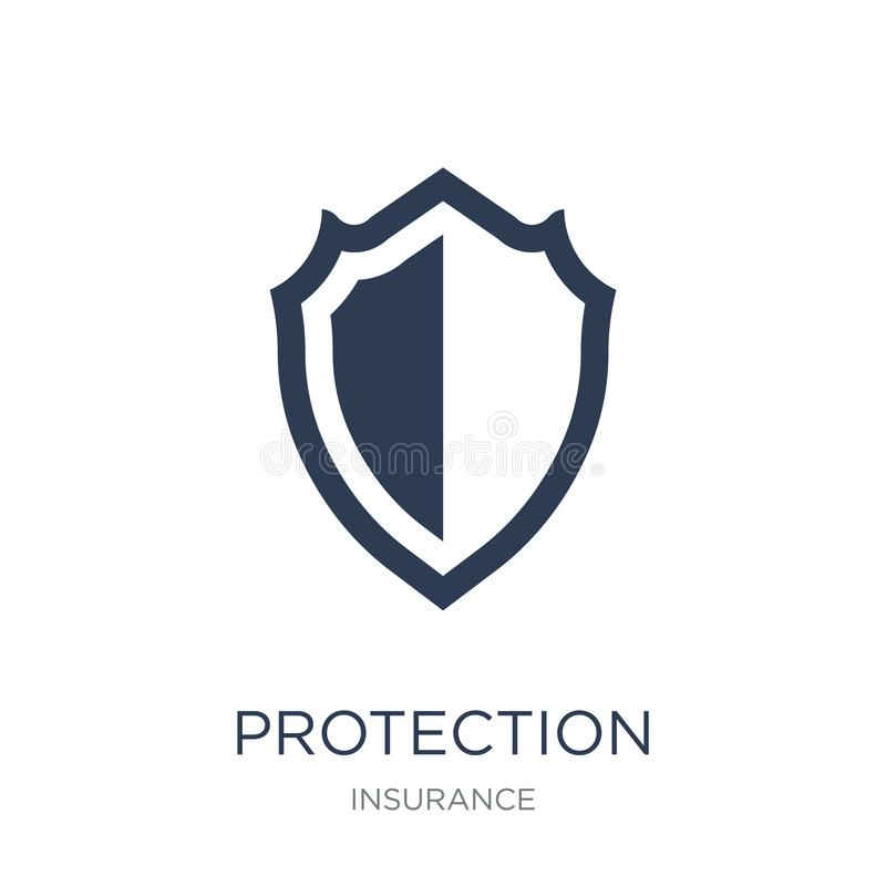 Protection icon. Trendy flat vector Protection icon on white background from Insurance collection. Vector illustration can be use for web and mobile, eps10 royalty free illustration