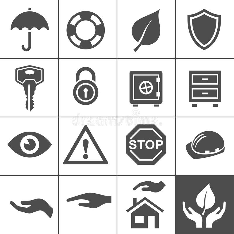 Download Protection Icons. Simplus Series Stock Vector - Image: 34678624