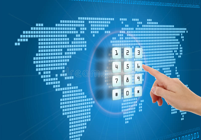 Protection in Internet. Concept of security and protection in Internet royalty free stock images