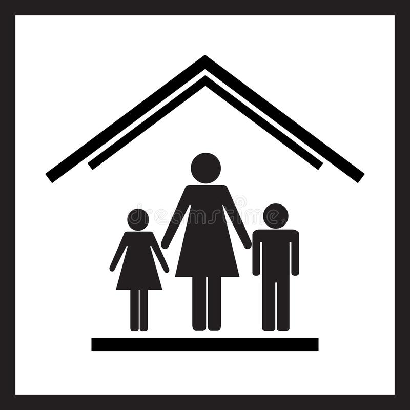 Protection of mothers with children1 stock images