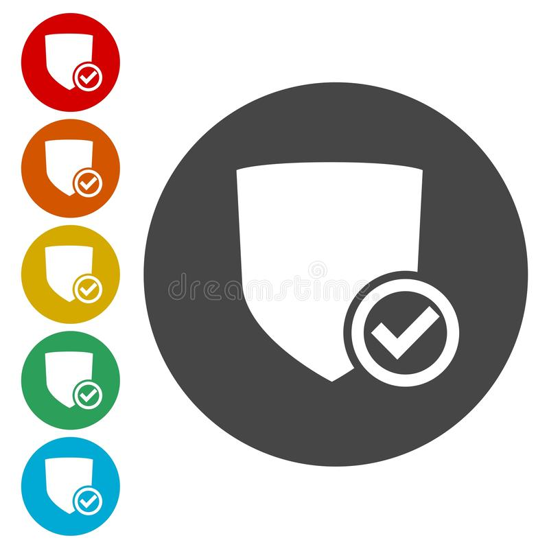 Protection ok icons set. Vector icon vector illustration