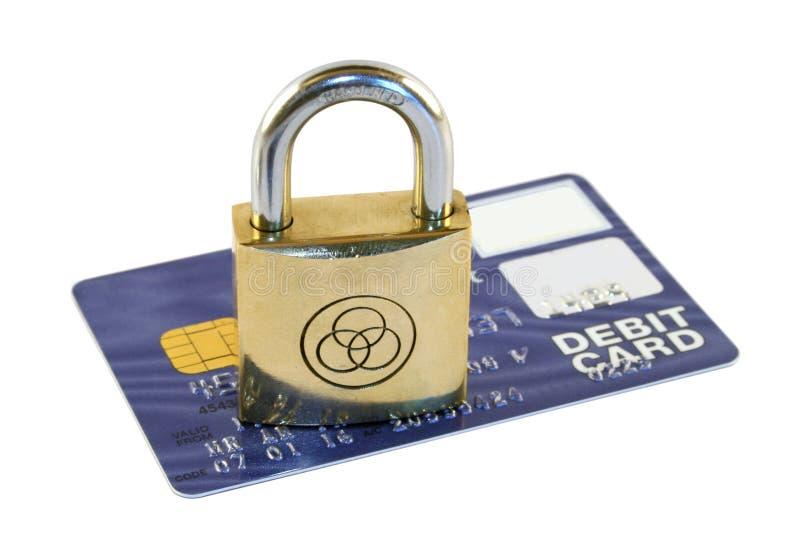 Protection par la carte de crédit photo stock