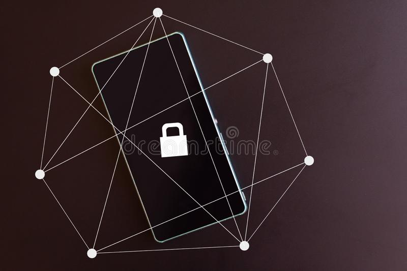 Protection of personal data on devices. concept stock photography