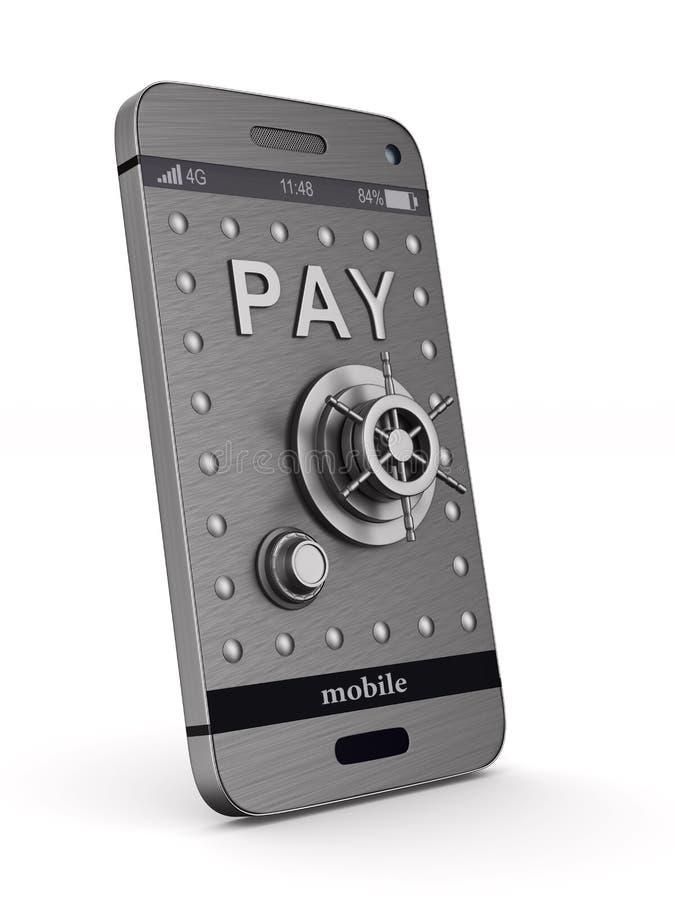 Protection phone on white background. Isolated 3D illustration.  royalty free illustration