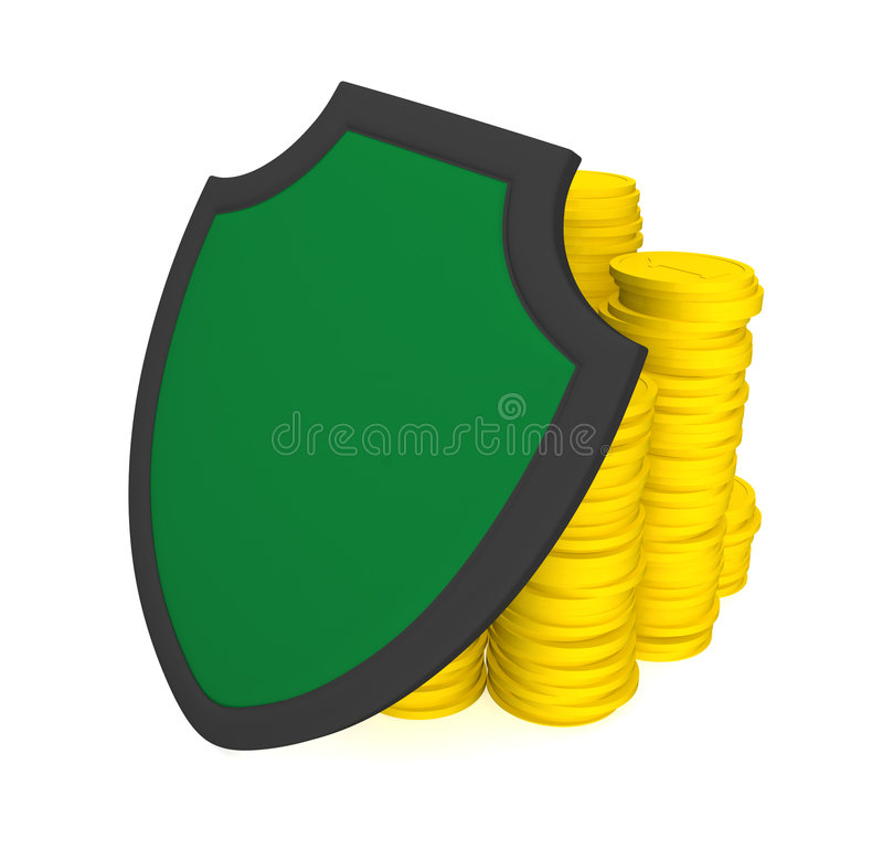Protection of savings stock image