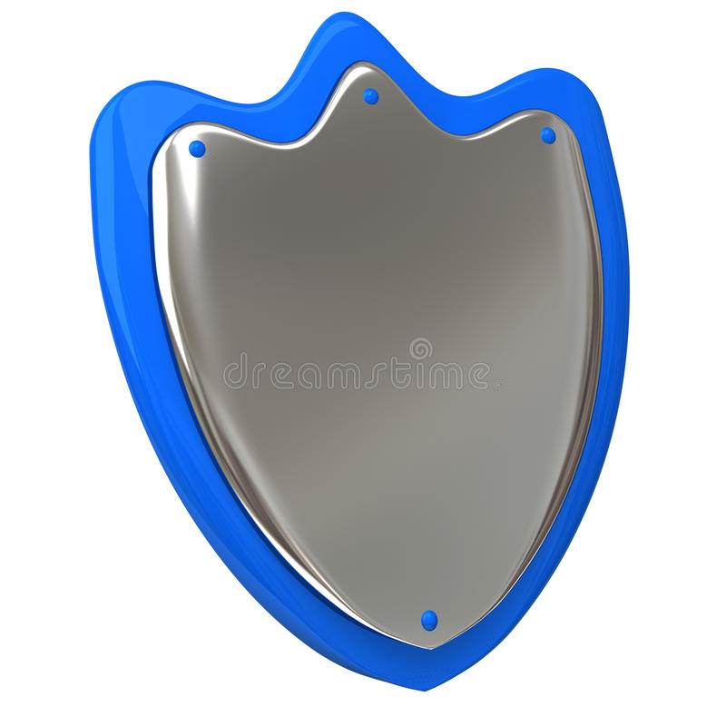 Download Protection shield 3d stock illustration. Image of metallic - 24574258