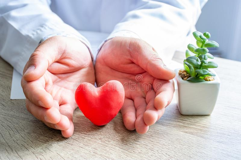Protection, treatment, prevention and patronage health of heart and cardiovascular system against diseases and pathologies concept royalty free stock images