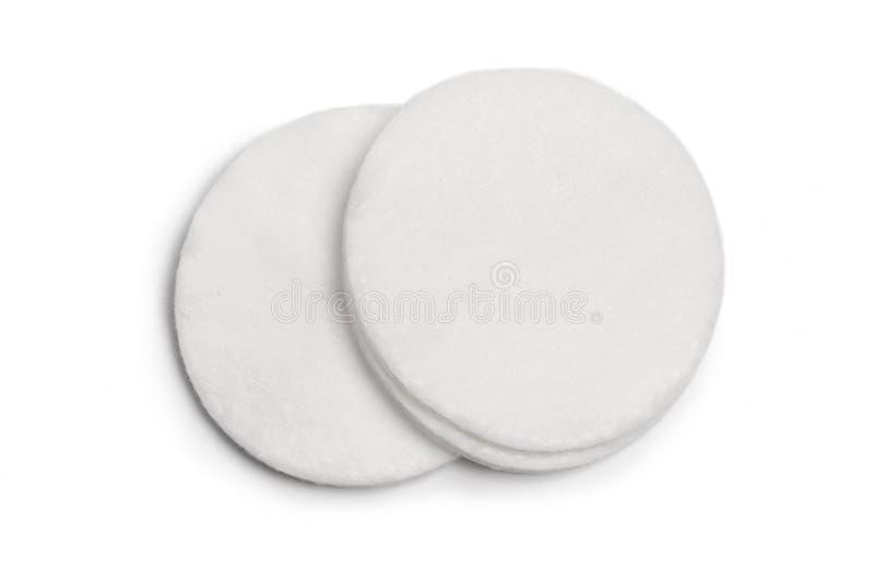 Protections de coton d'isolement sur le fond blanc Vue supérieure photo stock