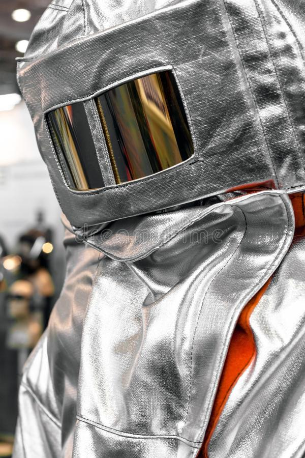 Protective clothes of a firefighter royalty free stock photography