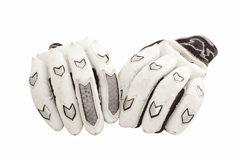 Protective Cricket Gloves for Batsmen stock image