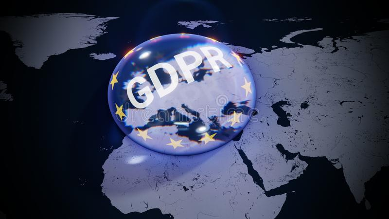 GDPR Europe EU DSGVO Data Privacy stock illustration