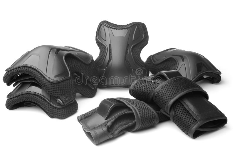 Protective gear for multi sport royalty free stock images
