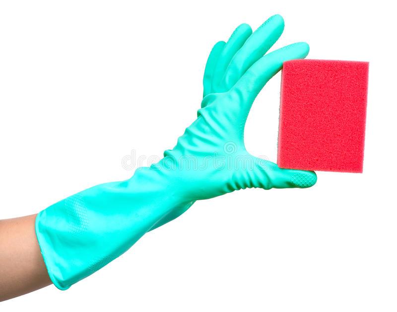 Download Protective Glove And Sponge Stock Photo - Image: 18236312