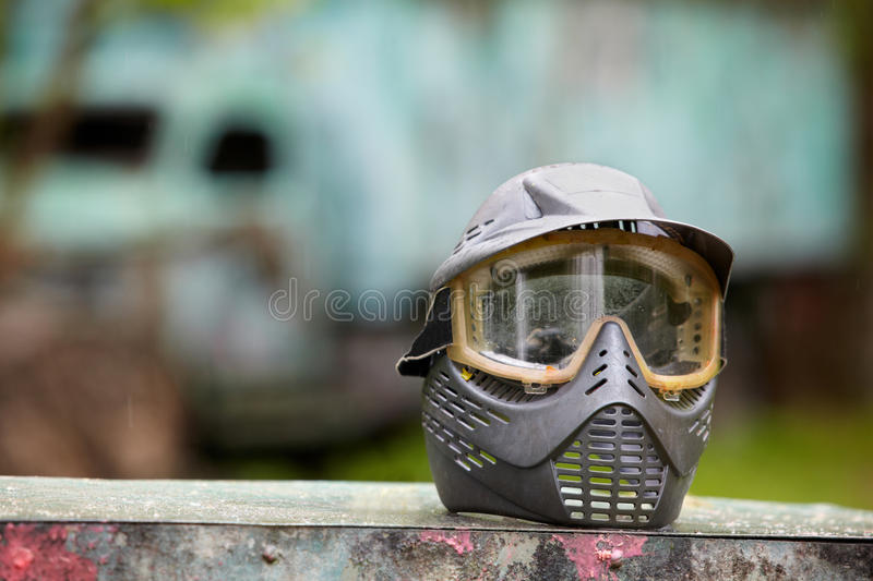 Download Protective Helmet For Paintball Player Stock Photo - Image: 25446610
