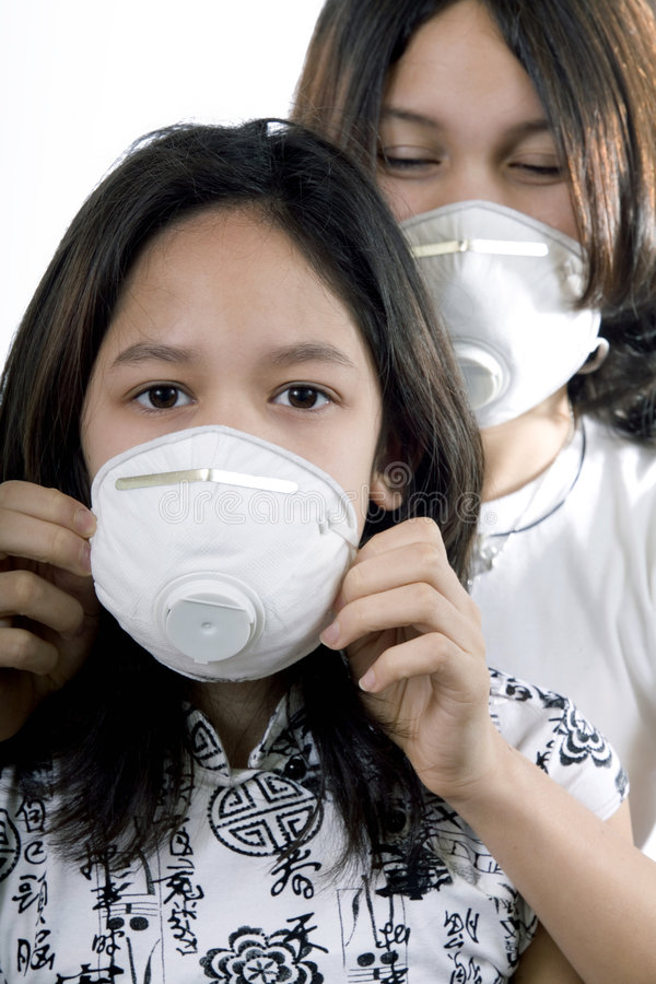 Protective mask. Against the transmission of viruses and dust royalty free stock image